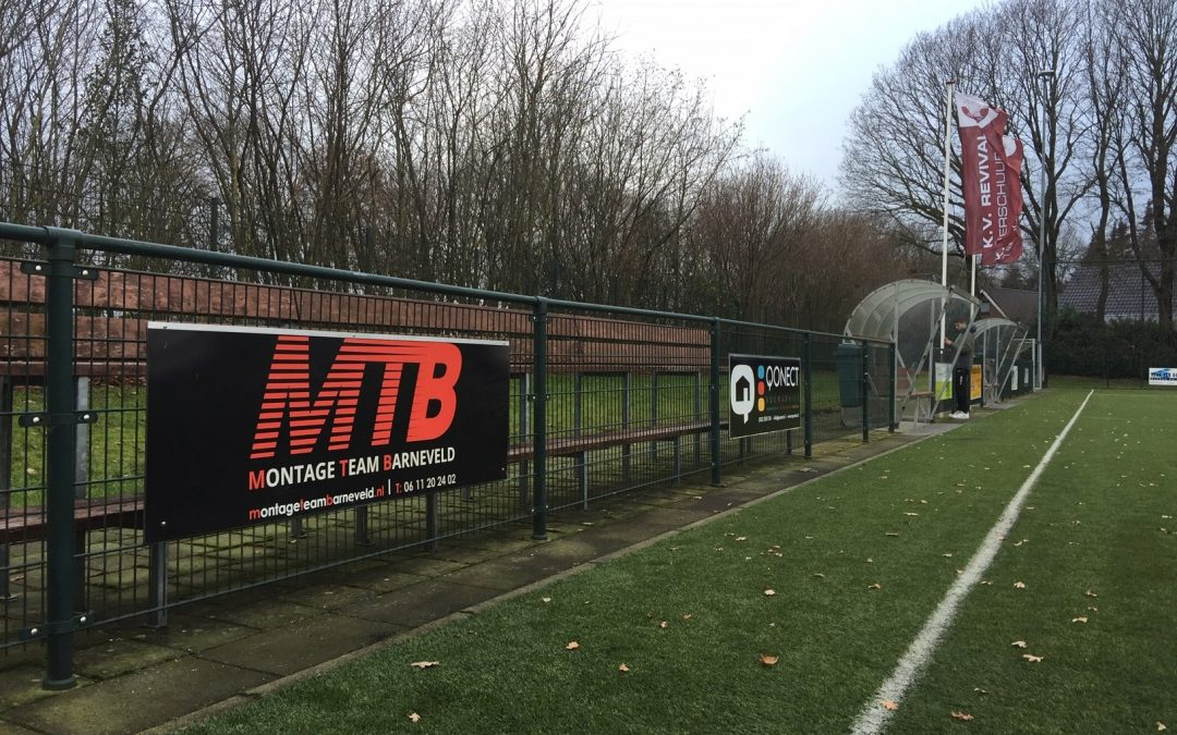 MTB bordsponsor bij Revival